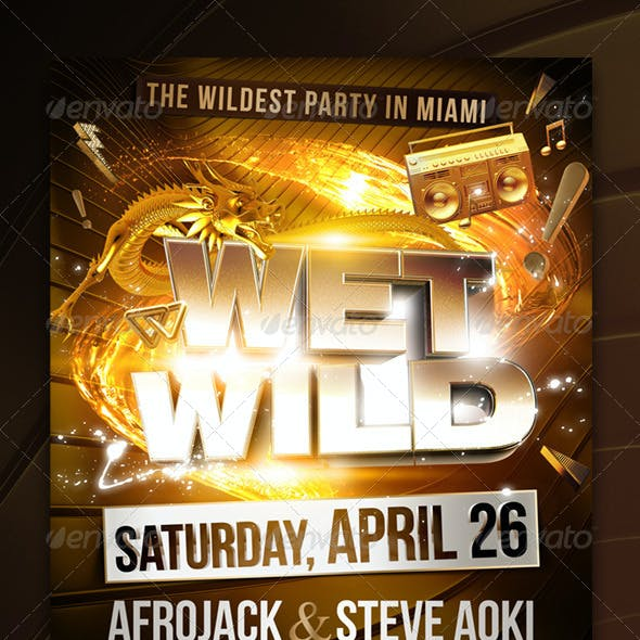 Wet Wild Party Flyer