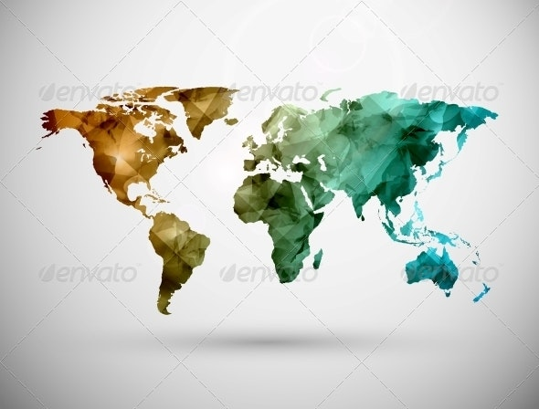 World Map - Abstract Conceptual