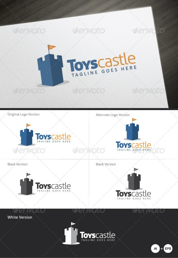 Toys Castle Logo Template - 3d Abstract
