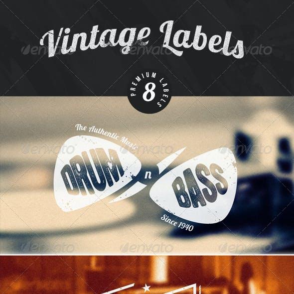 Vintage Logos / Badges / stickers V1