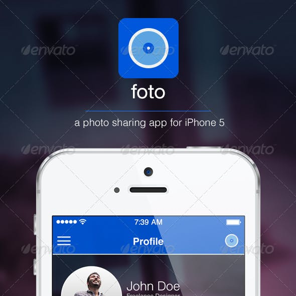 Foto iOS 7 UI Design Kit iPhone 5