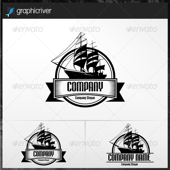 Sailing Ship Logo Templates