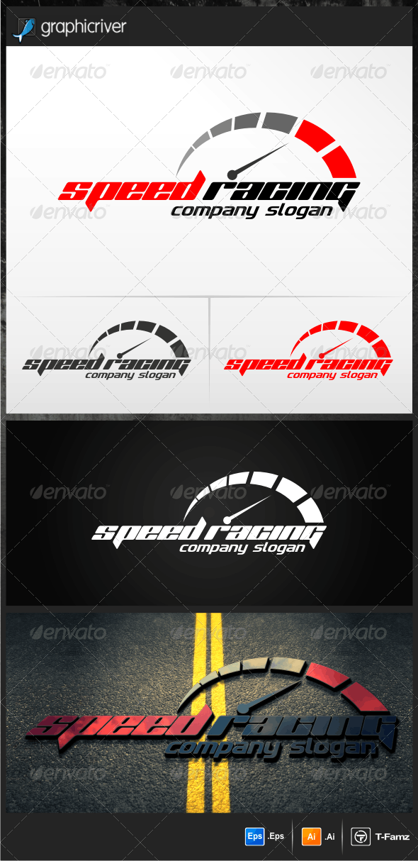 Speed Racing - Objects Logo Templates