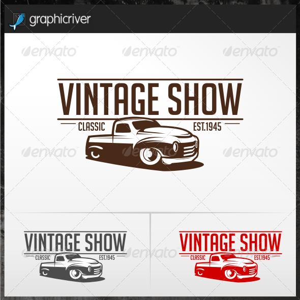 Vintage Show Logo Templates
