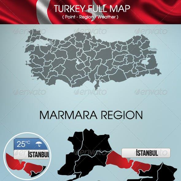 Turkey Map And Regions