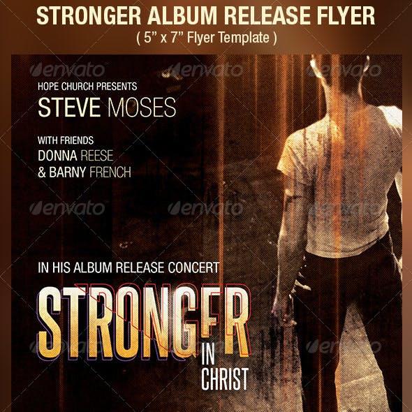Stronger Album Release Flyer Template