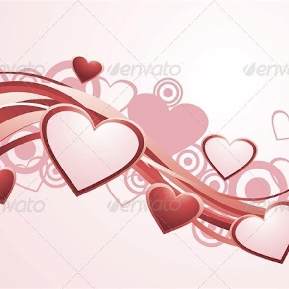 Vector Valentine's Day Background