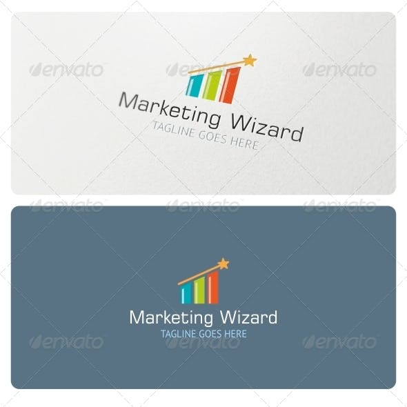 Marketing Wizard Logo Template