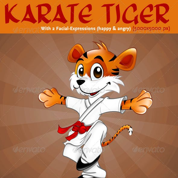 05 Mascot Design: Karate Tiger