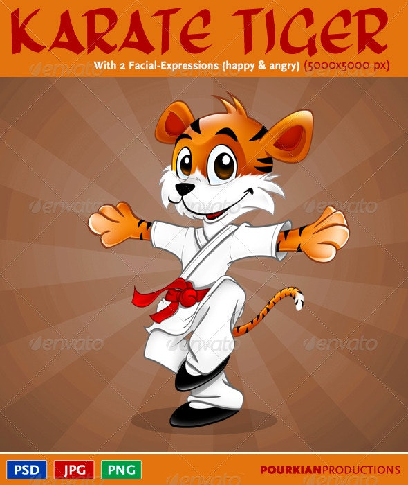 05 Mascot Design: Karate Tiger