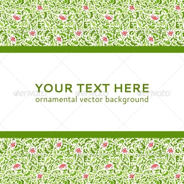 Abstract Colorful Flower Ornamental Border Vector