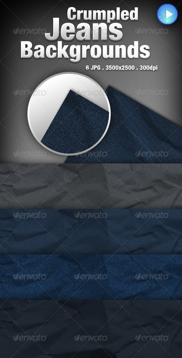 Crumpled Jeans Backgrounds - Backgrounds Graphics