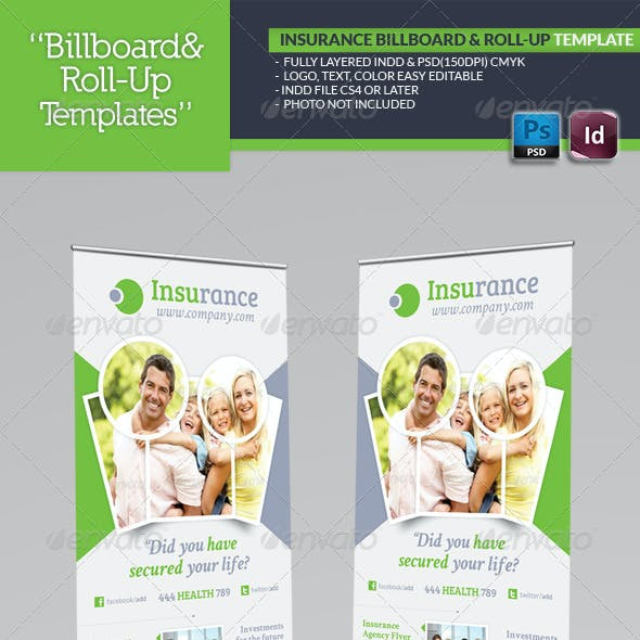 Insurance Agency Billboard & Roll-Up Template