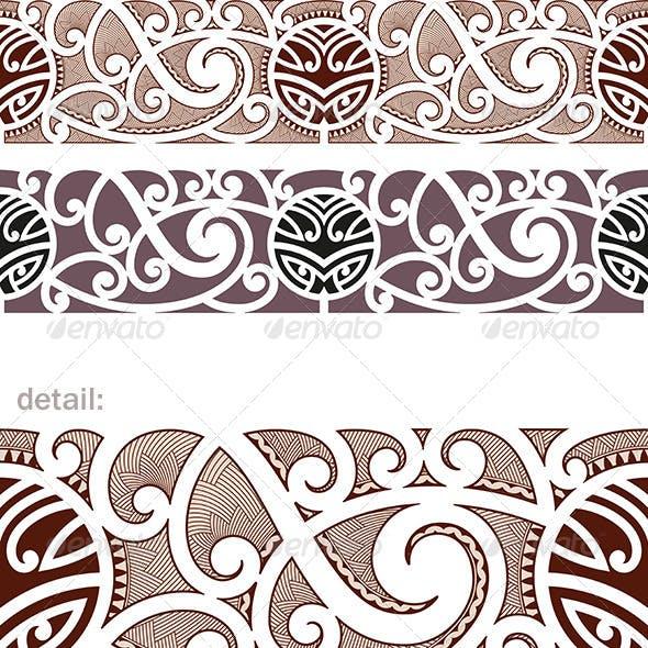 Maori Styled Seamless Pattern