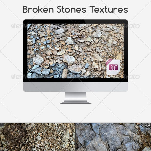 5 Broken Stones Textures