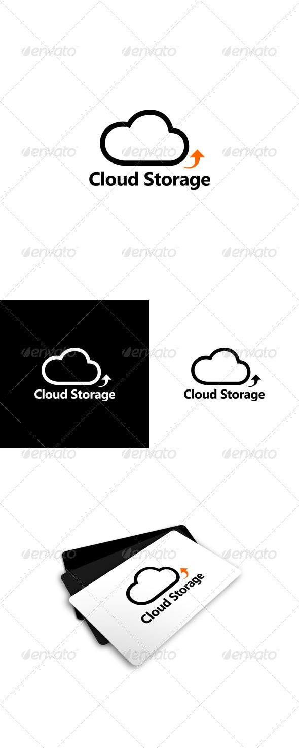 Cloud Storage Logo - Nature Logo Templates