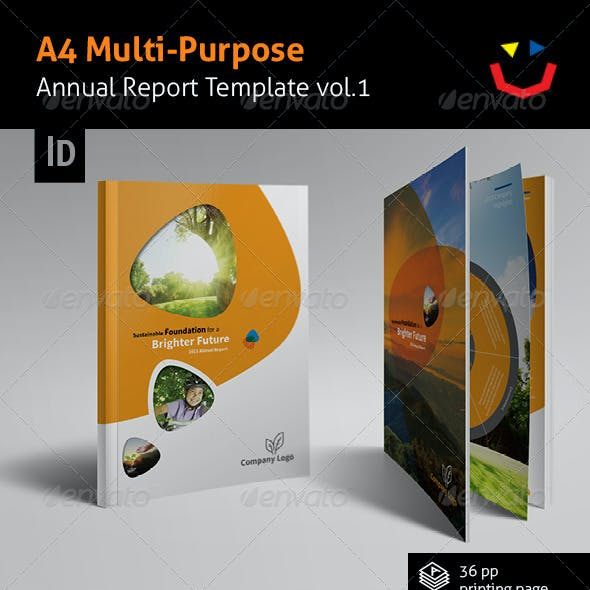 Annual Report Design Template Vol.1