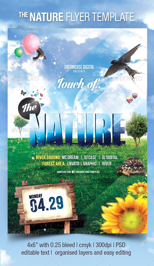 The Nature Flyer Template - Events Flyers