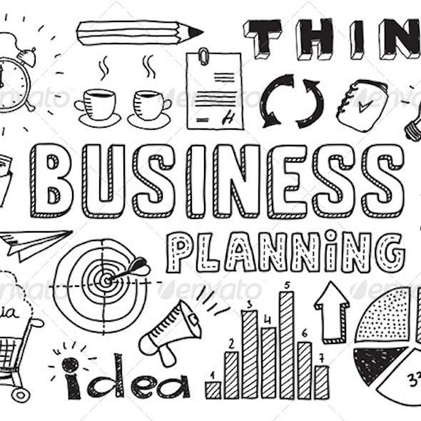 Business Planning Doodles Elements