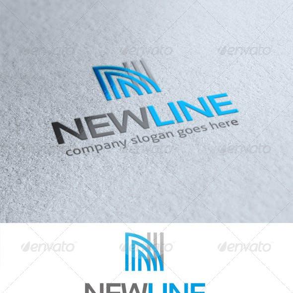 New Line Letter N Logo