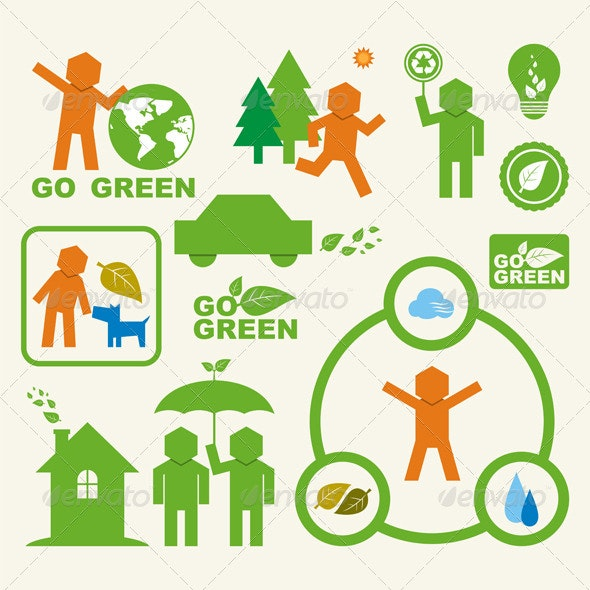 Hexagonman Icons Set - Environmental Issues