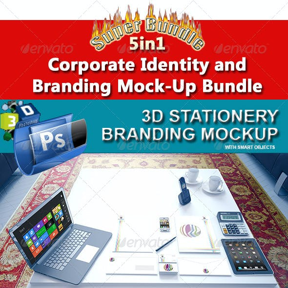 Corporate Identity and Branding Mock-Up Bundle