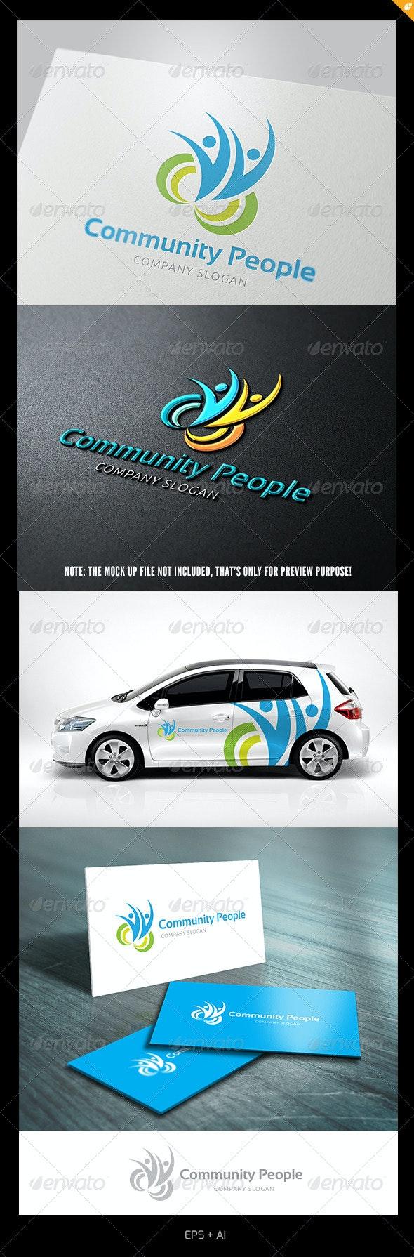 Community People - Humans Logo Templates