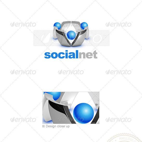 Social Media Logo 3D-720