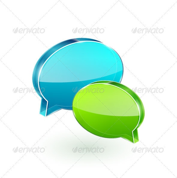 3D Glass Chat Boxes - Communications Technology