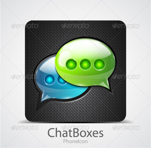 Chat boxes Phone Icon - Communications Technology