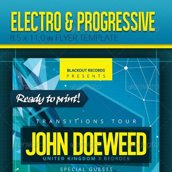 Electro and Progressive - Flyer Template