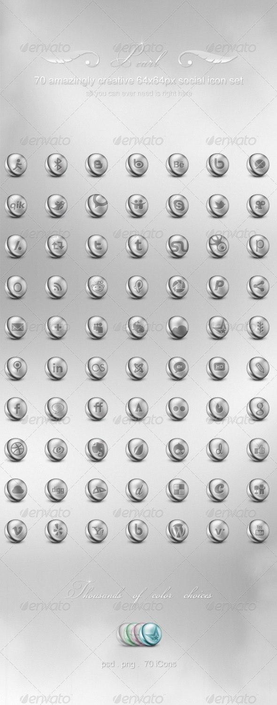 70 Pearl Social Media iCon Set - Web Icons