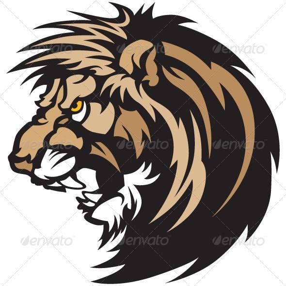 Lion Head Graphic Mascot Logo