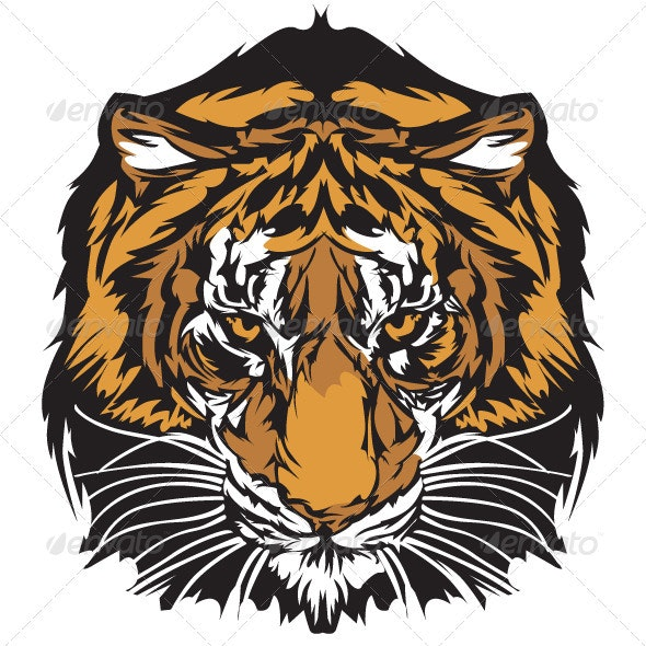 Tiger Head Graphic Mascot  - Animals Characters