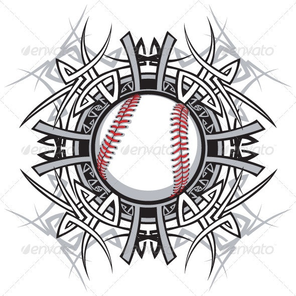 Baseball Softball Tribal Graphic Image - Sports/Activity Conceptual