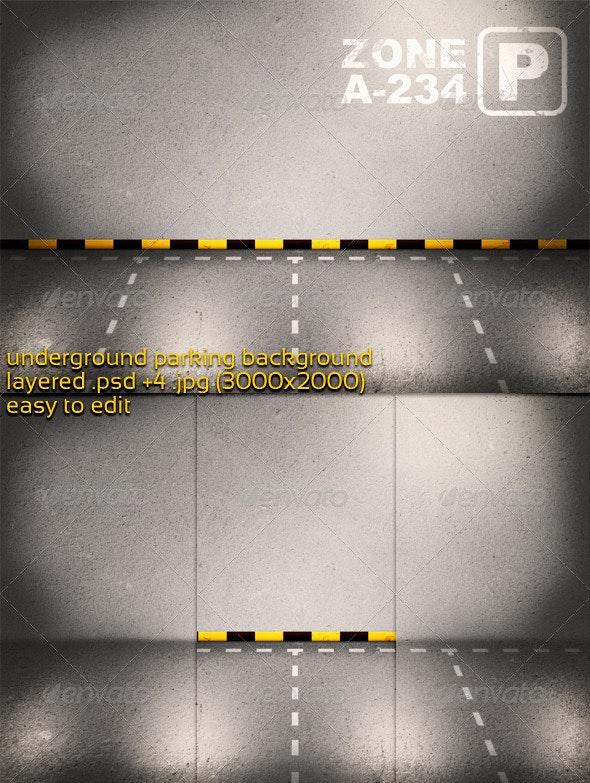 Underground Parking Background - 3D Backgrounds
