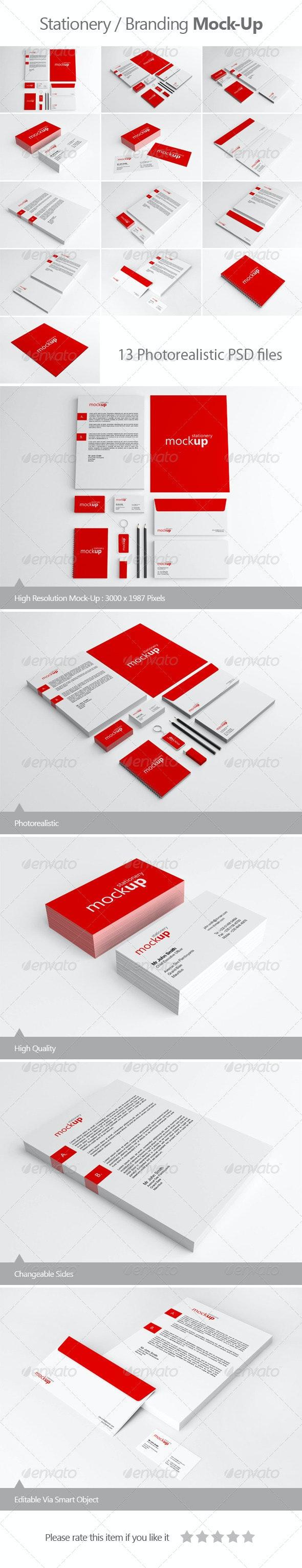 Stationery / Branding Mock-Up - Stationery Print