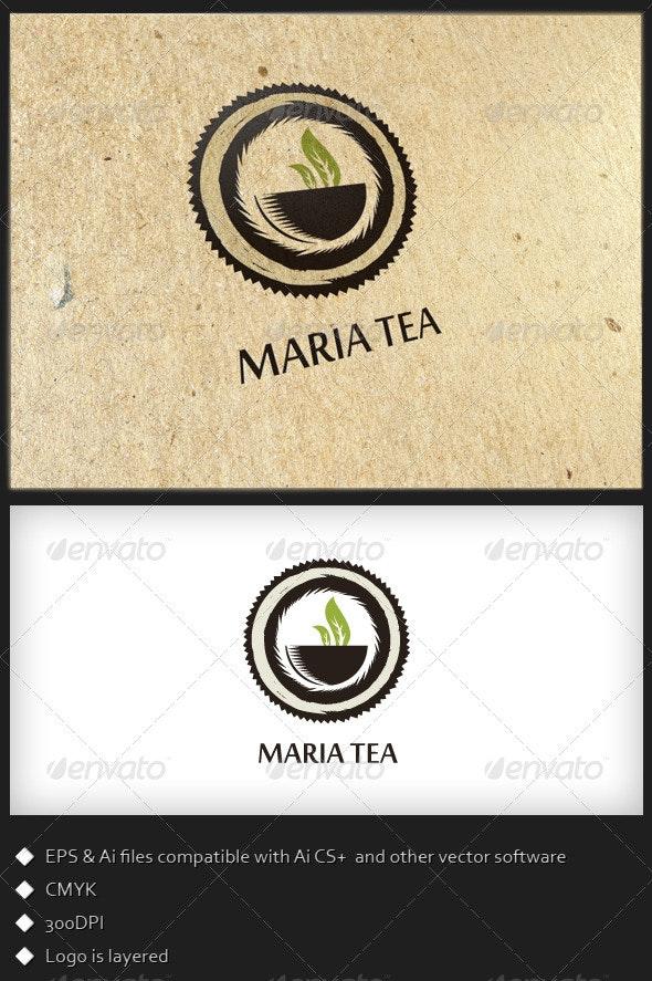 Maria Tea - Logo Template - Food Logo Templates