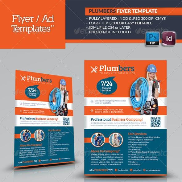 Plumbers Flyer Template