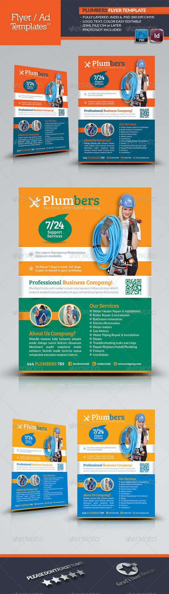 Plumbers Flyer Template - Corporate Flyers