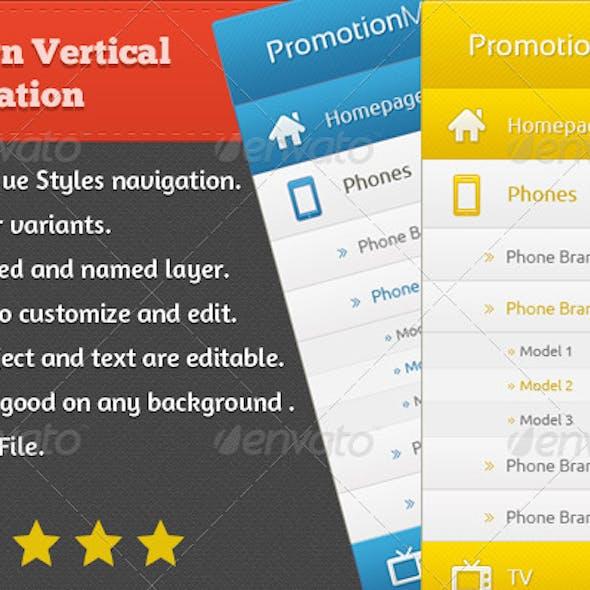 Modern Vertical Navigation