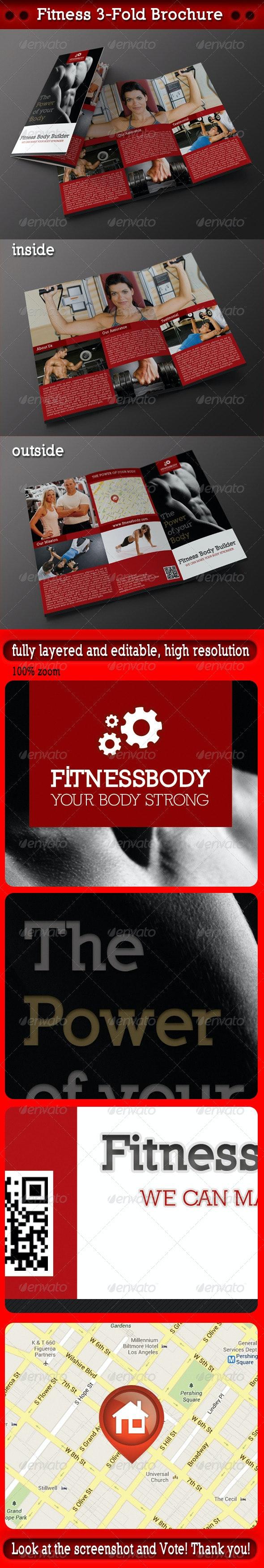 Fitness 3-Fold Brochure - Corporate Brochures