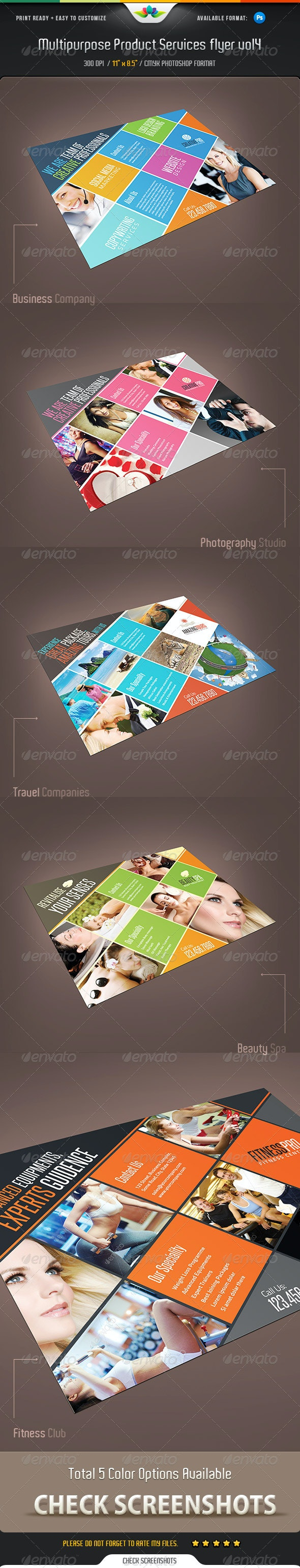 Multipurpose Product / Services Flyer Vol 4  - Corporate Flyers