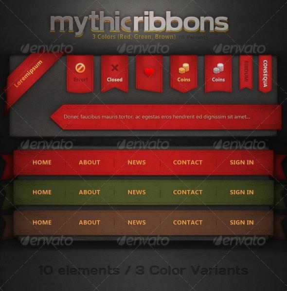 Mythic Ribbons - Miscellaneous Web Elements