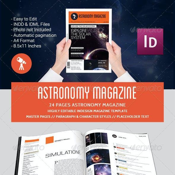 Astronomy Magazine Template