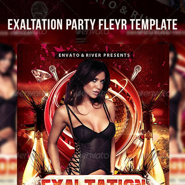 Exaltation Party Flyer Template