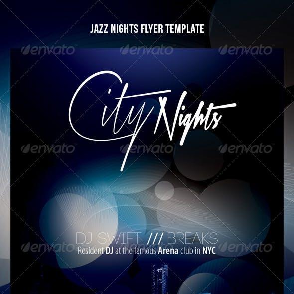 Jazz nights flyer template