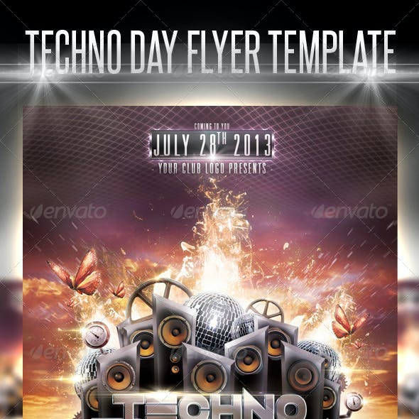 Techno Day Flyer Template