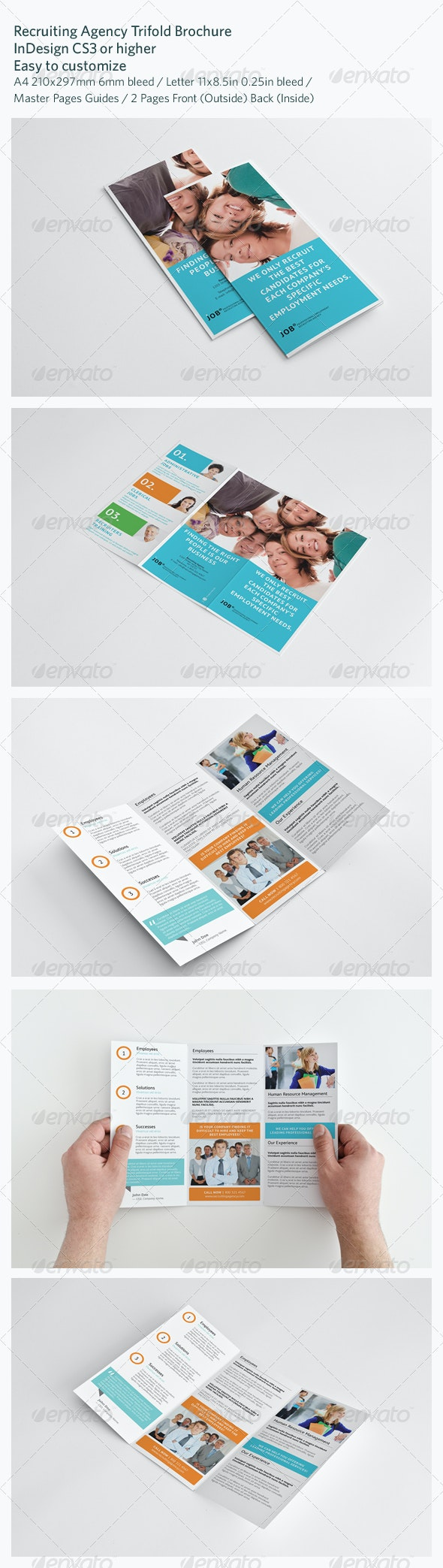 Recruiting Agency Trifold Brochure - Brochures Print Templates