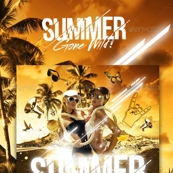 Summer Gone Wild Party Flyer